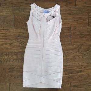 Herve Leger Icy Rose Bandage Mini Dress